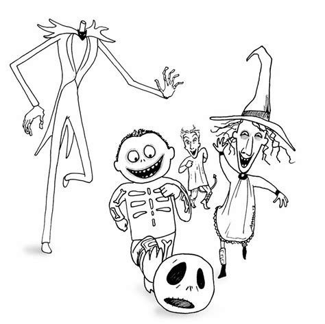 Nightmare Before Characters Coloring Pages The Nightmare Before Christmas Coloring Pages Az by Nightmare Before Characters Coloring Pages