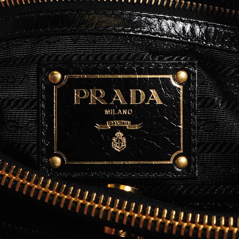 Prada Bn251 Vitello Shine Black Nero prada vitello shine tote nero black 105622