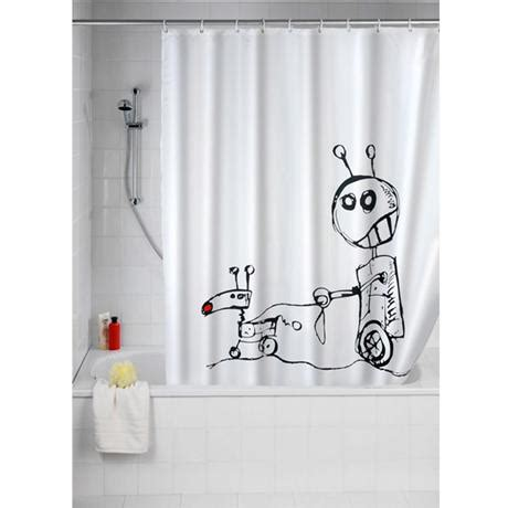 funny shower curtains uk wenko robots polyester shower curtain 1800 x 2000mm