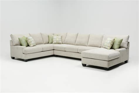 raf chaise sectional harper foam 3 piece sectional w raf chaise living spaces