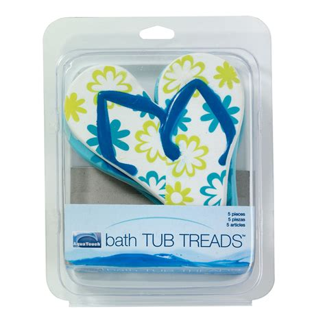 bathtub treads aqua touch 5 piece bath tub treads flip flops home bed bath bath bathroom