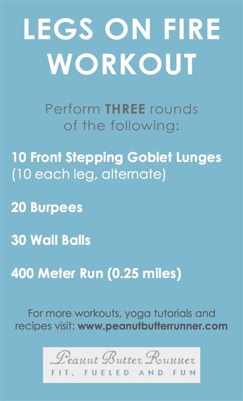 quot legs on quot cardio strength workout peanut butter runner