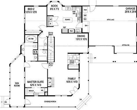 Rambler Ranch House Plans by Classic Rambler Ranch Home Plan 77361ld 1st Floor