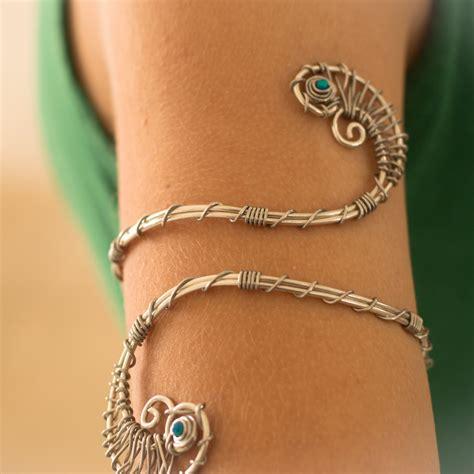 silver arm cuff silver tourquize arm bracelet arm