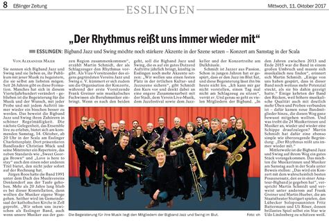 scala swing bigband live in der scala esslinger zeitung jazz and