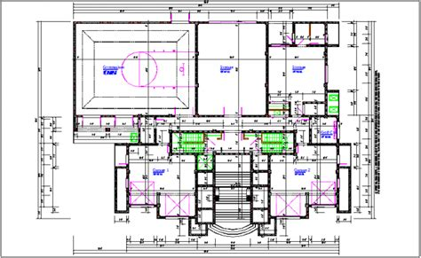 layout plan details shopping mall plan layout details dwg file