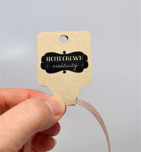 custom tag necklace custom fold necklace jewelry tags jewelry display personalized product hanging cards