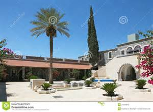 palm patio a patio palm and cypress trees royalty free stock images