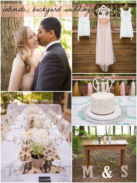 intimate backyard wedding small intimate wedding shahul maggie 187 hill city