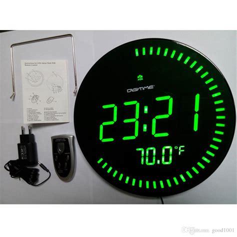 oversized led clock large led digital oversized circling wall clock shelf