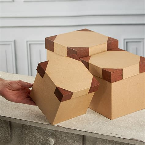 large craft paper large paper mache and tin square box set paper