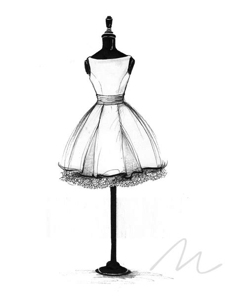 blithe dress sketch graphic design
