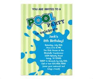 Pool Invitations Free Templates by Pool Invitation Word Template Custom Invitations