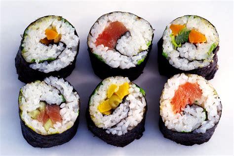 roll sushi japanese sushi roll makizushi with canned tuna salad