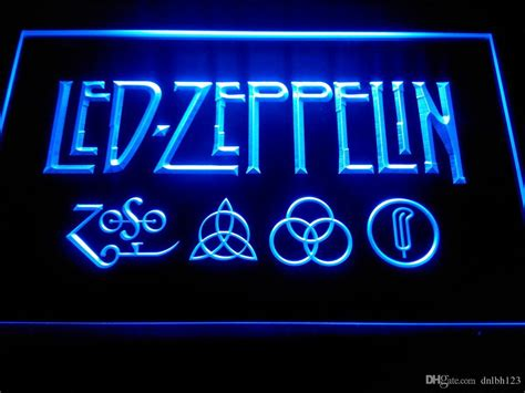 2017 led zeppelin rock n roll neon light signs lf002b