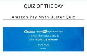 amazon quiz winner answers added amazon myth buster quiz answer win rs