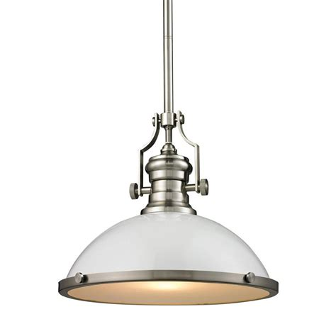 beldi lessin collection 1 light nickel and satin pendant