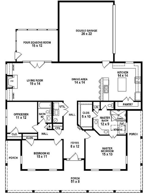 5 bedroom house plans with wrap around porch 653881 3 bedroom 2 bath southern style house plan with