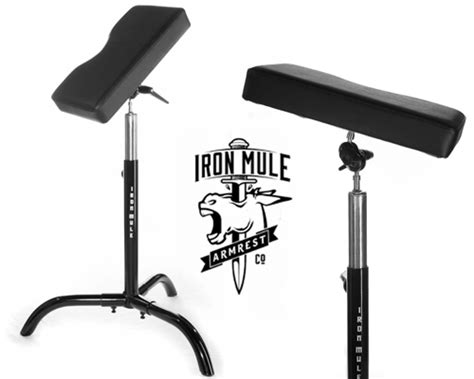 double h tattoo iron mule arm rest