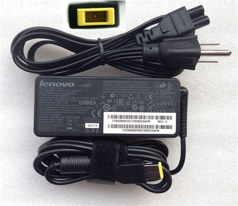 Adaptor Original Lenovo 20v 3 25a Pin Central Dc 7 9 X 5 5mm 20v 3 25a lenovo adlx65nlc3a adlx65ncc3 ac adapter square yellow lenovo adlx65nlc3a 163 19 99