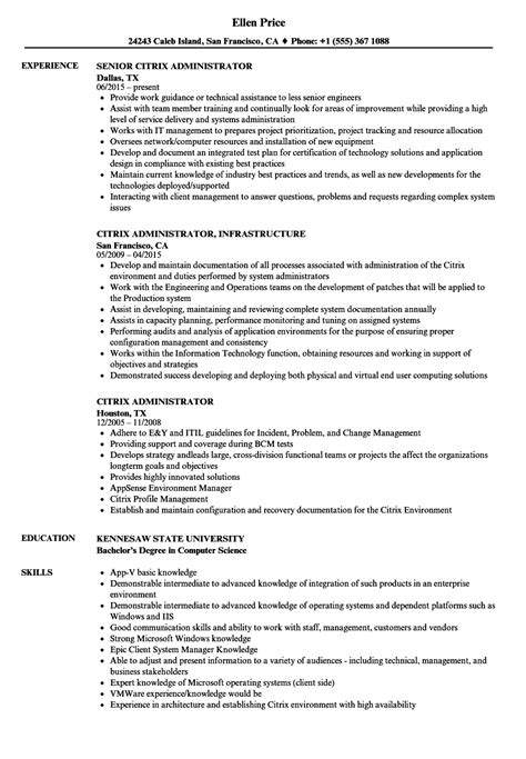 Citrix Administrator Cover Letter by Citrix Administrator Cover Letter Fungram Co