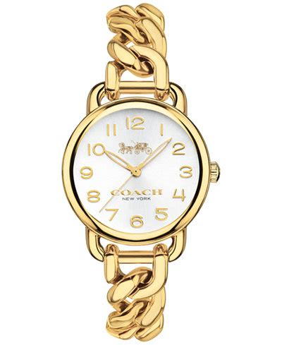 Lancing Samora Gold Ss coach s delancey gold tone stainless steel chain link bracelet 28mm watches