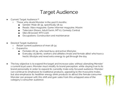 energy drink target market ad caign for energy drink