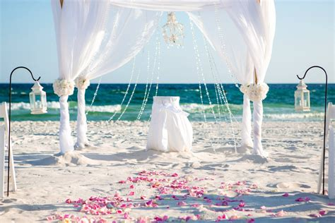 White Panama City Beach Wedding » Destin Beach Weddings in Florida