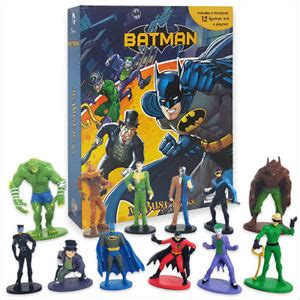 Figure Isi 12 Busy Book batman my busy book 12 figurines and a playmat new 8438572911585 ebay