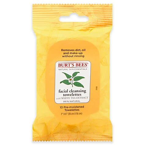 Detox Tea At Bed Bath And Beyond by Burt S Bees 174 10 Count Cleansing Towelettes With