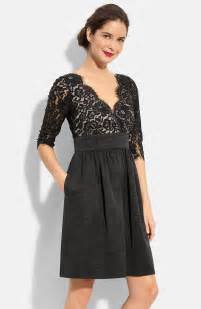 eliza j lace amp faille dress regular amp petite nordstrom