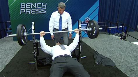 best bench press in nfl schefter s bench press too good to be true espn video