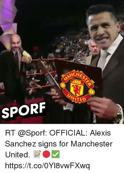 now official alexis sanchez signs for manchester united 25 best memes about nch nch memes