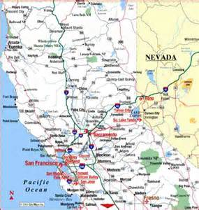california road map map travel holidaymapq