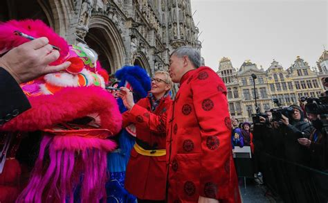 new year parade brussels performers take part in new year parade in