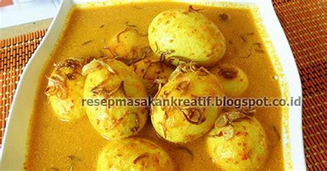 Garam Lekoh resep gulai telur kuning padang aneka resep masakan