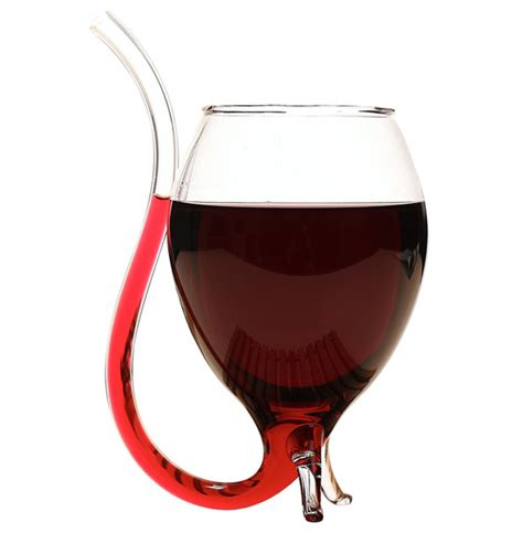 wine glass with straw a sippy cup for adults ohgizmo
