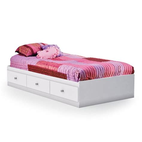 platform bed twin south shore crystal mates twin platform bed white twin