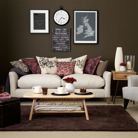 chocolate living room chocolate and cream living room housetohome co uk
