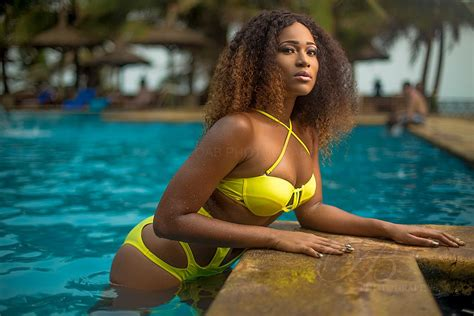 leaked photos of ghanaian celebrities bringing sexy back christabel ekeh in a hot yellow
