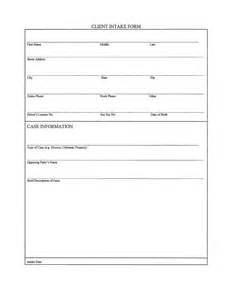 client intake form template client intake form template