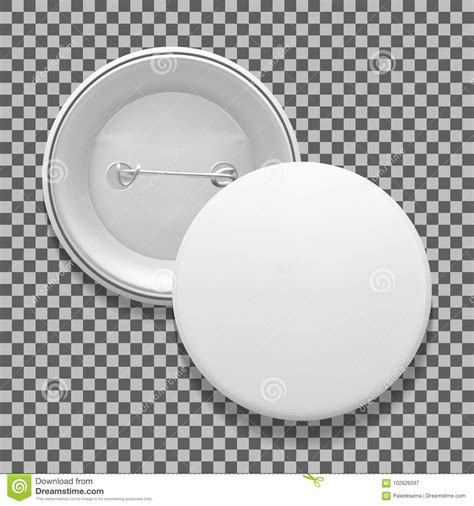 Empty Pin Badge Template Stock Vector Illustration Of Grey 102626597 Pin Design Template