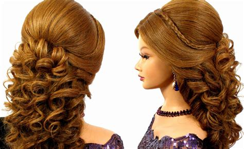 hairstyles for curly long hair youtube prom hairstyle long hair romantic wedding prom hairstyle