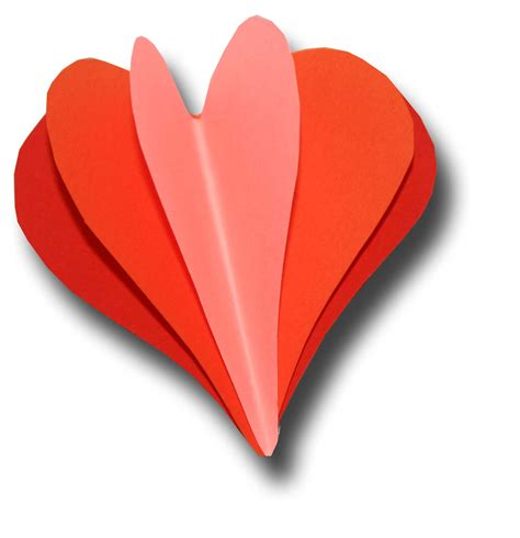 3d hearts paper crafts for children 187 3d hearts for valentines day