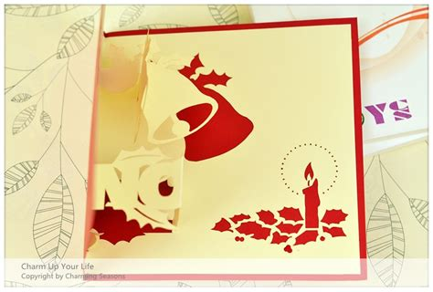 Origami 3d Card - origami handcrafted 3d season s greeting card merry