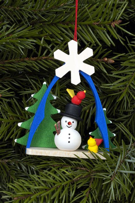 tree ornament snowman 7 4x6 3cm 3x2in by christian ulbricht