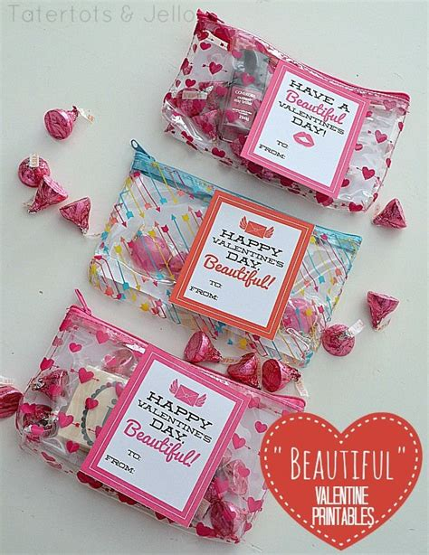 Gorgeous Valentines Gifts by Quot Beautiful Quot S Day Printables Tween Or