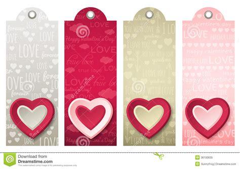 establecer etiquetas vintage con los corazones vector de etiquetas de las tarjetas del d 237 a de san valent 237 n con los