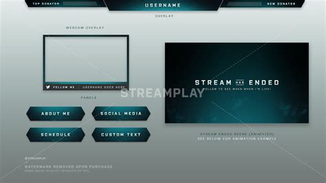 twitch layout template twitch overlay templates premade frames
