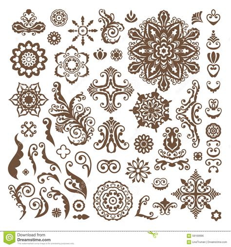 abstract floral illustration design elements  white